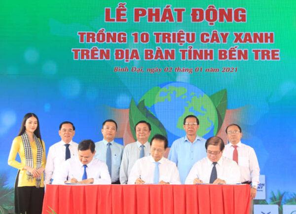 Lễ phát động trồng 10 triệu cây xanh - Tổ chức sự kiện Bến Tre Nam Mekong